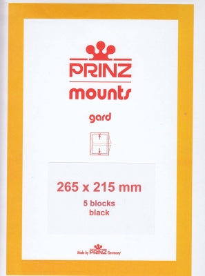 Prinz Stamp Mount 215 265 x 215 Strips & Panes Black