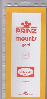 Prinz Stamp Mount 45 265 x 45 mm Strips & Panes Clear