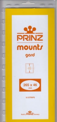 Prinz Stamp  Mount 46 265x 46 mm Strips & Panes Black