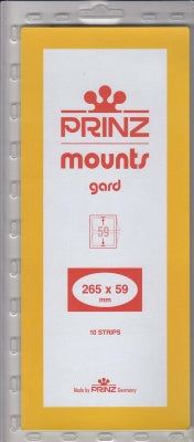 Prinz Stamp Mount 59 265 x 59 mm Strips & Panes Clear