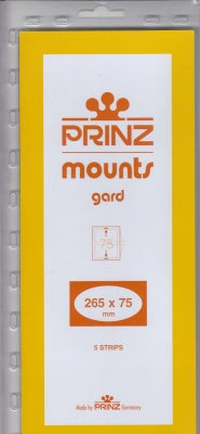 Prinz Stamp Mount 75 265 x 75 mm Strips & Panes Clear