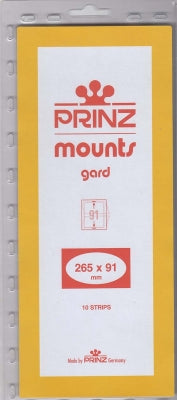Prinz Stamp Mount 91 265 x 91 mm Strips & Panes Clear