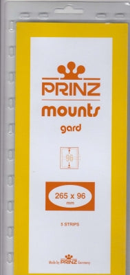 Prinz Stamp Mount 96 265 x 96 mm Strips & Panes Black