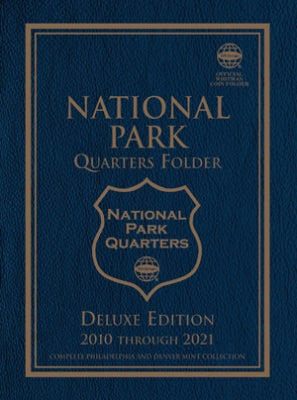 2875 National Park Quarters Deluxe Blue Whitman Folder