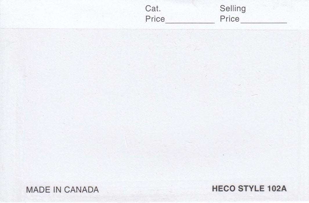 "Heco 102A 4.25"" x 4.75"" Stamp Approval Cards"