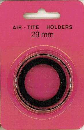 29mm Air-Tite Coin Capsule Black Ring