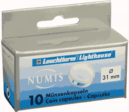 31mm -Lighthouse Coin Capsules