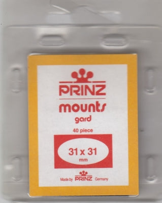 Prinz Stamp Mount 31/31 Pre-Cut Single Clear