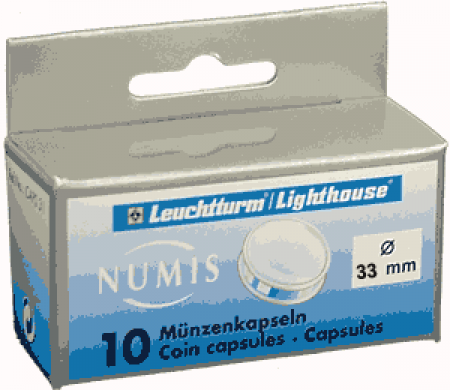 33mm -Lighthouse Coin Capsules