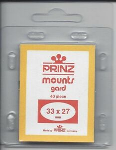 Prinz Stamp Mount 33/27 Pre-Cut Single Clear