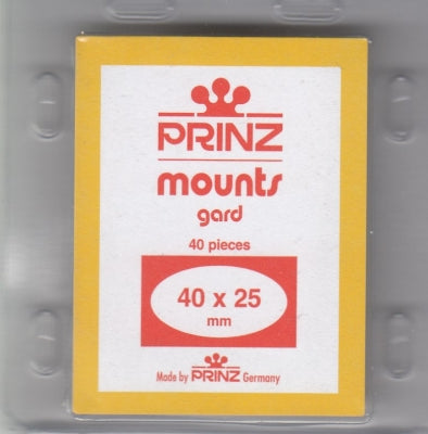 Prinz Stamp Mount 40/25 Pre-Cut Single Clear