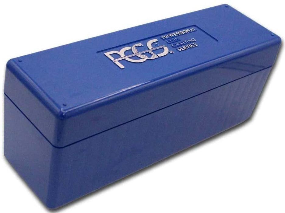 "PCGS 9"" Blue Plastic Slab Storage Box"
