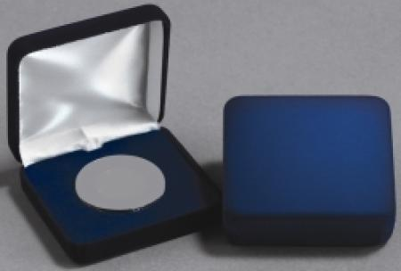 Air-Tite A Deluxe Blue Velvet Coin Capsule Box