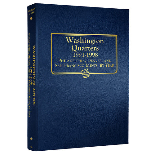9123 - Washington Quarters, 1991-1998 Whitman Album