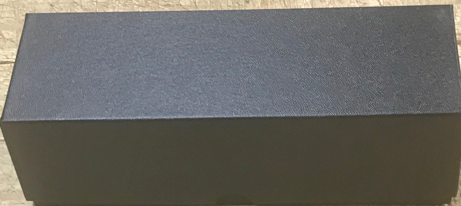 "8"" 2.5 x 2.5 Black Cardboard Single Row Storage Box"