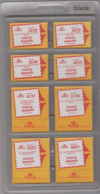 Prinz Stamp Mount PCK1 Pre-Cut Single Assortment Pack Clear