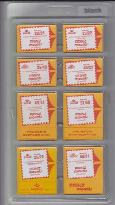 Prinz Stamp Mount PCK20 Pre-Cut Single Assortment Pack Clear
