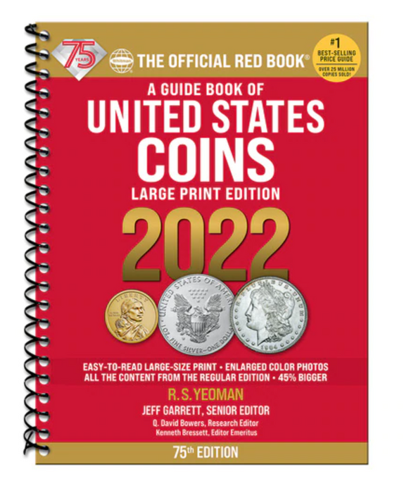 2022 Whitman Large Print Redbook - A Guide Book of United States Coins