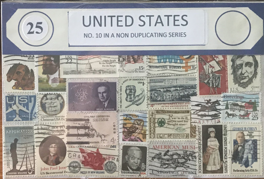 U.S. 10 Stamp Packet