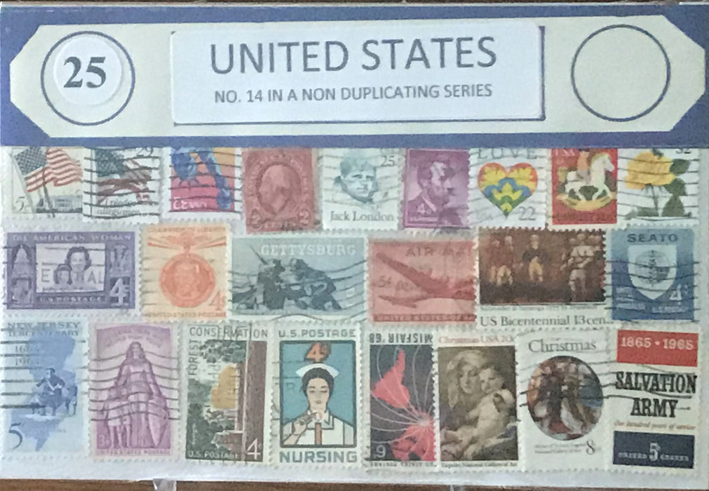 U.S. 14 Stamp Packet