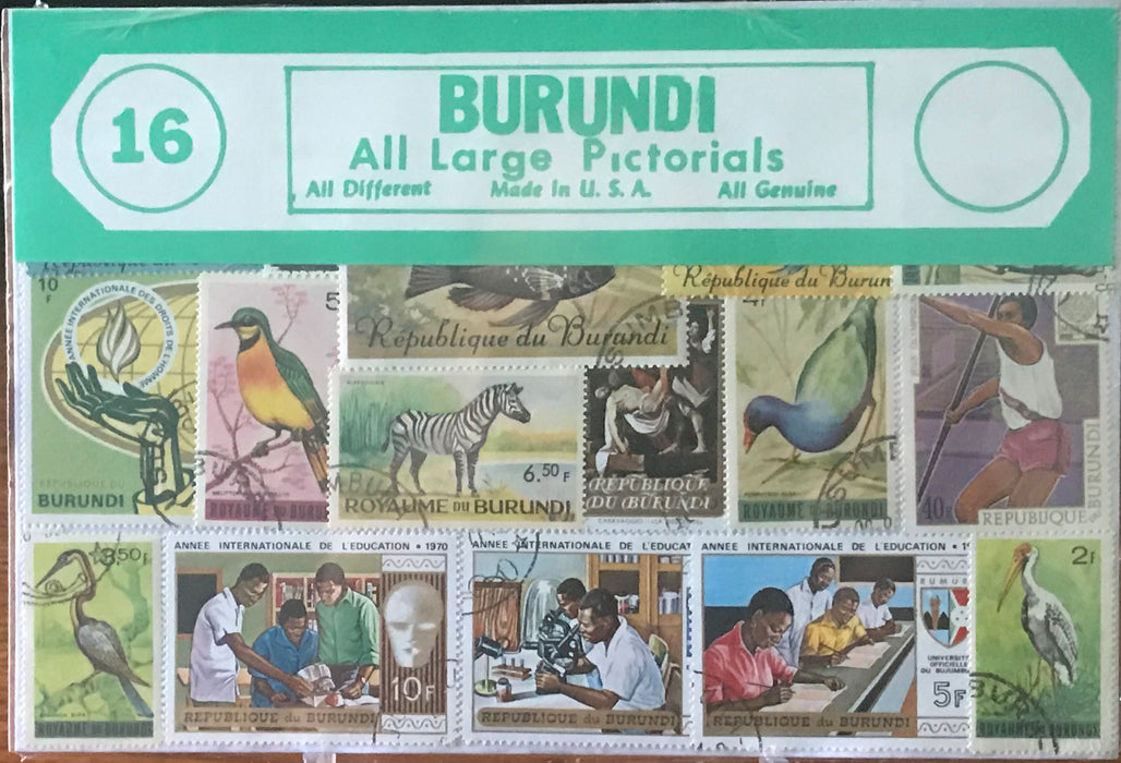 Burundi Stamp Packet