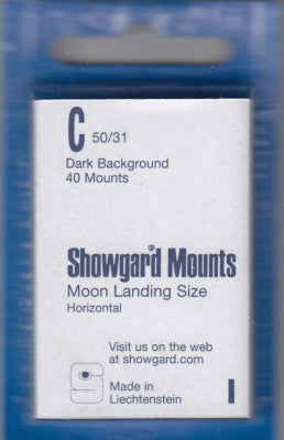 Showgard Stamp Mount C 50/31 Black
