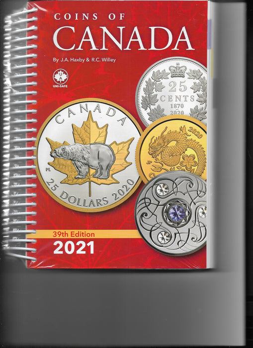 39th Edition Coins of Canada 2021 Haxby & Willey Book