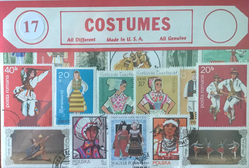 Costumes Stamp Packet