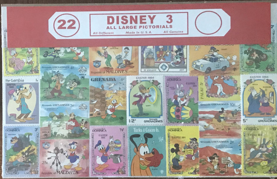 Disney 3 Stamp Packet