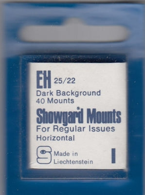 Showgard Stamp Mount EH 25/22 Black