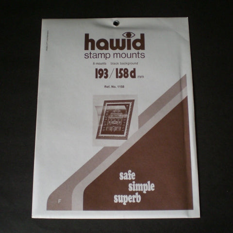 Hawid Stamp Mount H193 x 158d Black