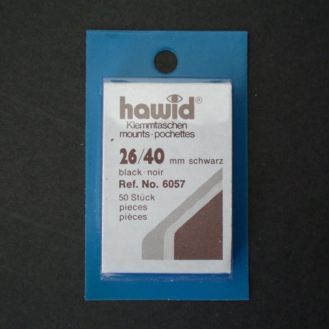 Hawid Stamp Mount H26 x 40 Black