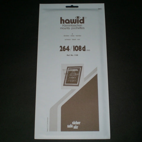 Hawid Stamp Mount H264 x 108d Black