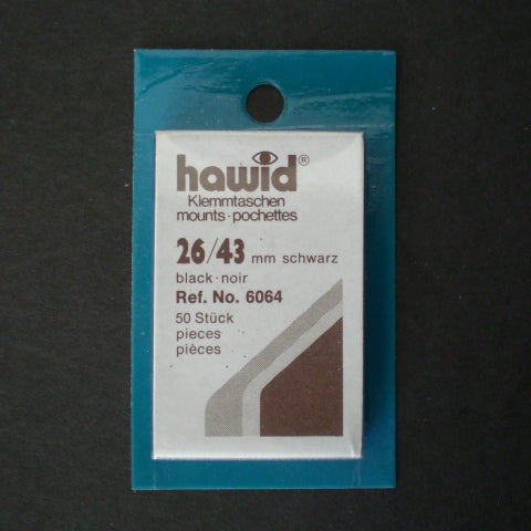 Hawid Stamp Mount H26 x 43 Black