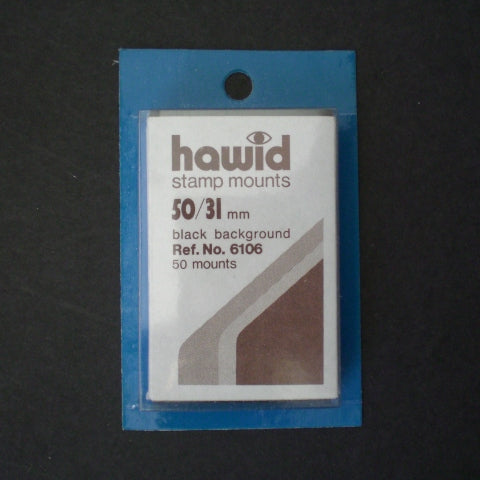 Hawid Stamp Mount H50 x 31 Black