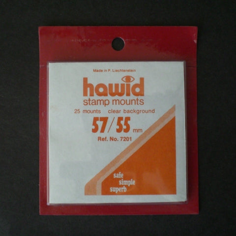 Hawid Stamp Mount H57 x 55C Clear