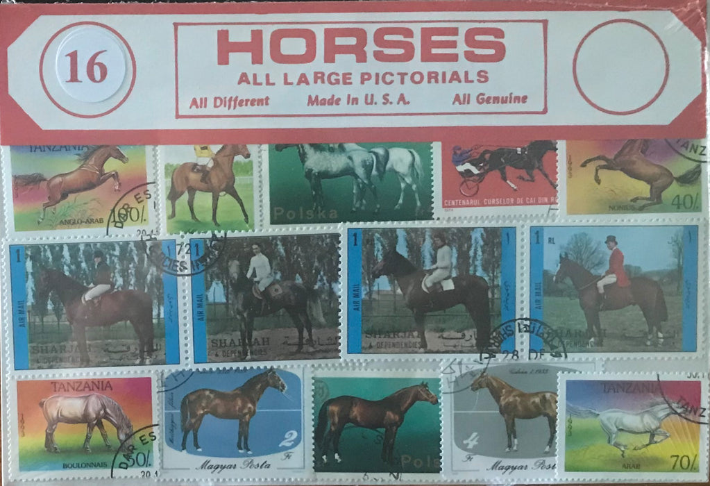 Horses Stamp Packet