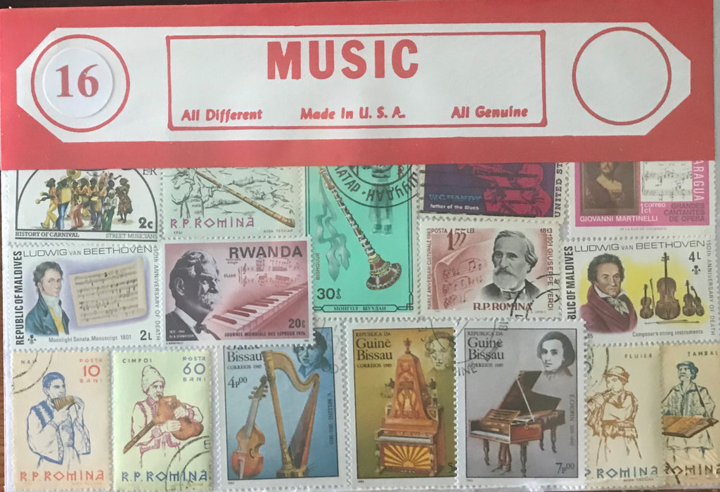 Music Stamp Packet