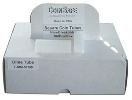 Dime Square Coin Tubes(Quantity 100)
