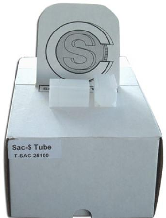 Small Dollar Square Coin Tubes(Quantity 100)
