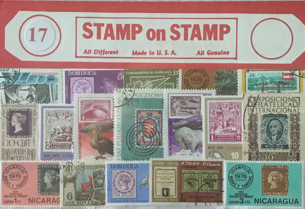 Stamps on Stamps Stamp Packet