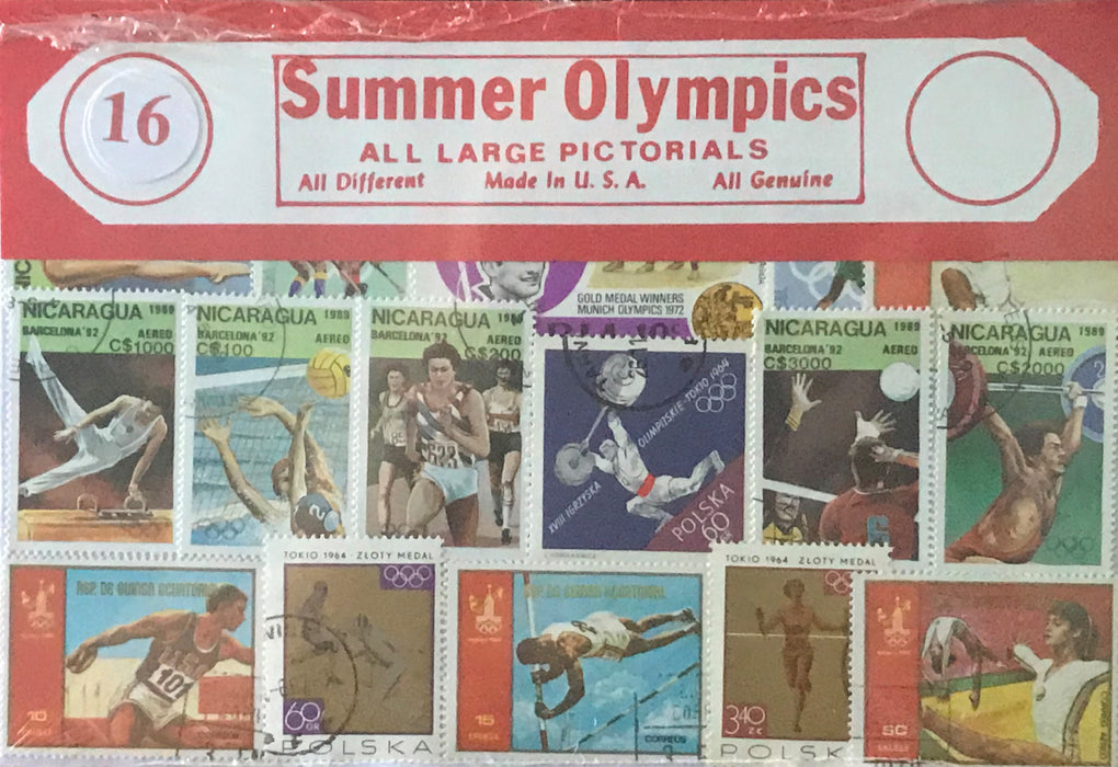 Summer Olympics Stamp Packet