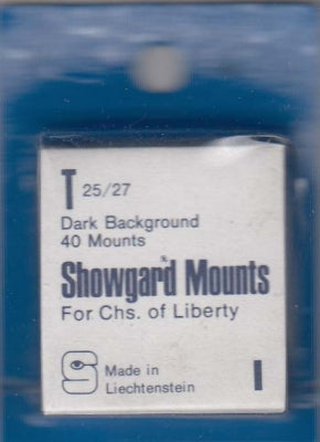 Showgard Stamp Mount T 25/27 Black