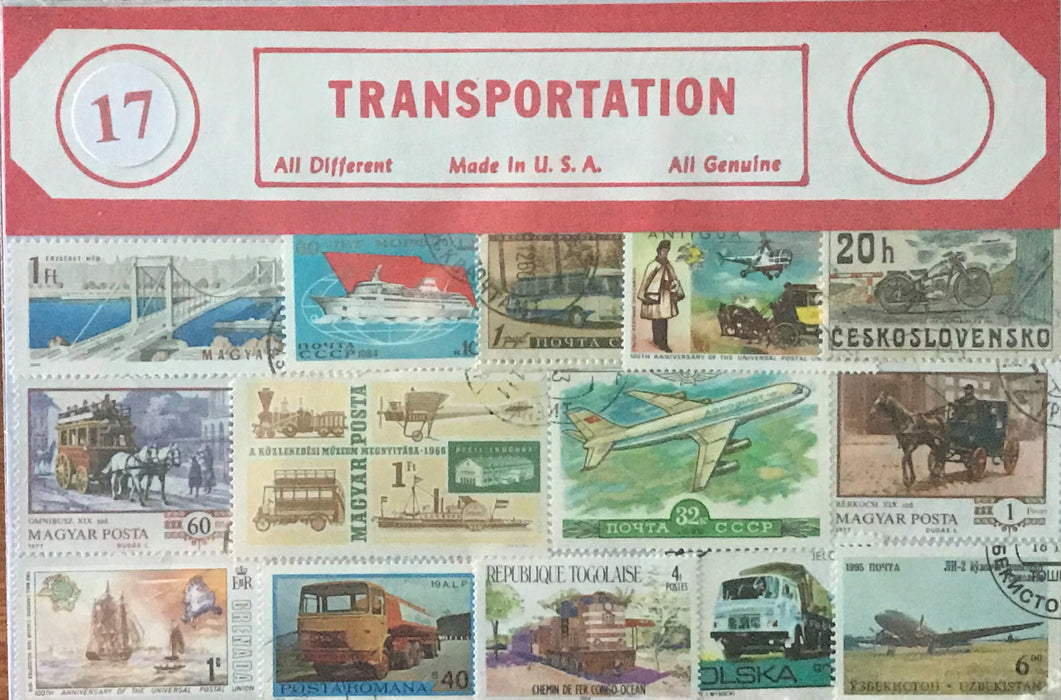 Transportation Stamp Packet