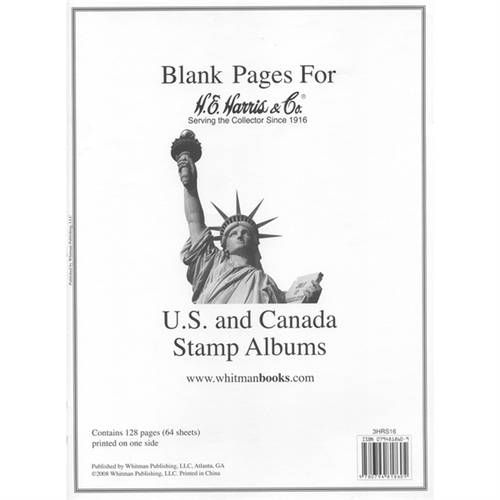 U.S./U.N./CAN Blank Pages Harris Supplements