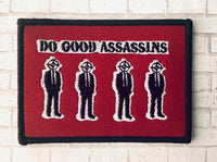 Do Good Assassins Red Iron On Patch