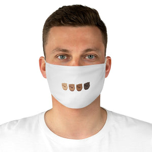 Black Fist Power Fabric Face Mask