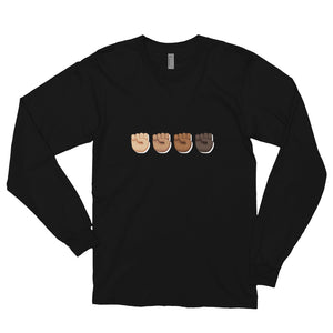 Black Fist Power Long sleeve t-shirt