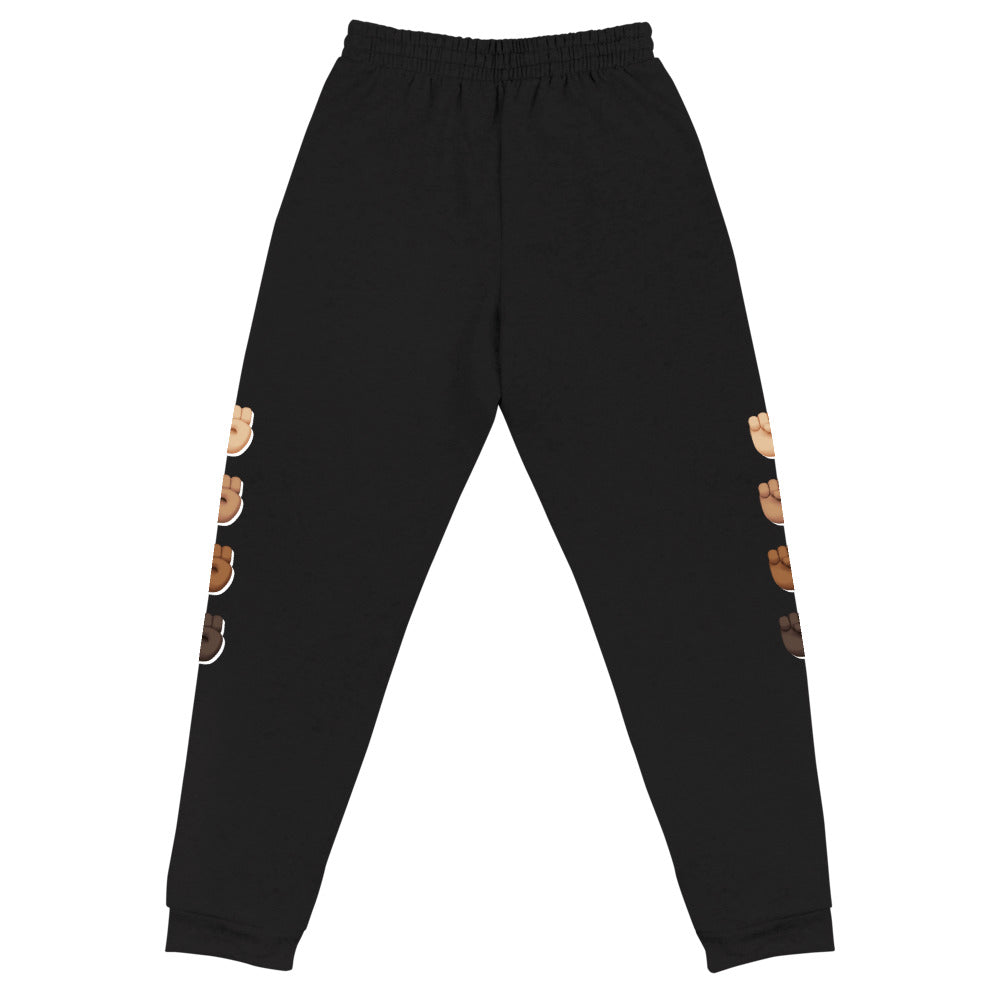 Black Fist Power Unisex Joggers