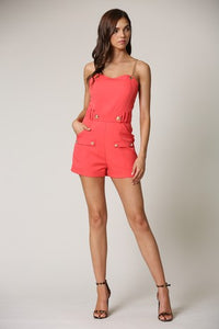 Sleeveless Chain Straps Romper